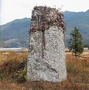 구산리 지석묘의 표석으로 추정되는 전남 구례 구산리입석