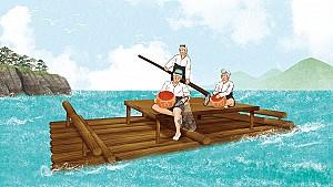 해녀들이 노를 저으며 부르는 제주 함덕마을의 「이여도사나소리」