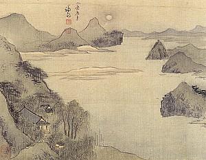 정선의 그림 속에 보이는 조선의 악양루, 서울 소악루