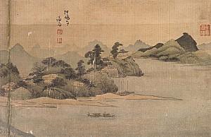 정선의 그림에 보이는 한강변의 압구정