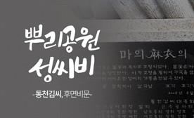 뿌리공원 성씨비 (통천김씨,후면비문)