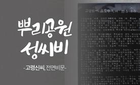 뿌리공원 성씨비 (고령신씨,전면비문)