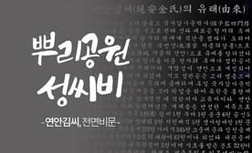 뿌리공원 성씨비 (연안김씨,전면비문)