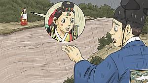 신랑 신부가 돌로 변한 사모바위