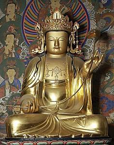 칠곡 송림사 목조석가여래삼존좌상(보물 제1605호)